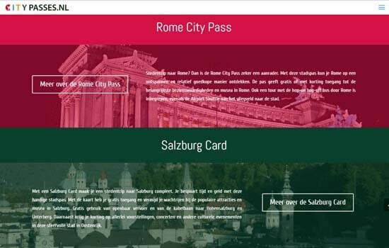 Citypasses-Website-webdesign