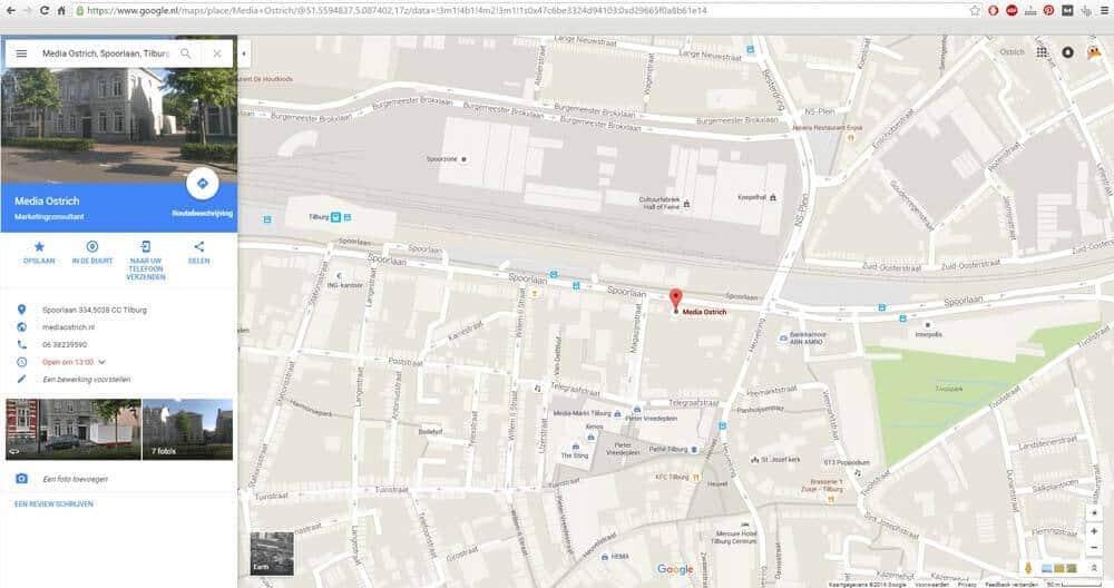 MediaOstrich geo tag google maps locatie