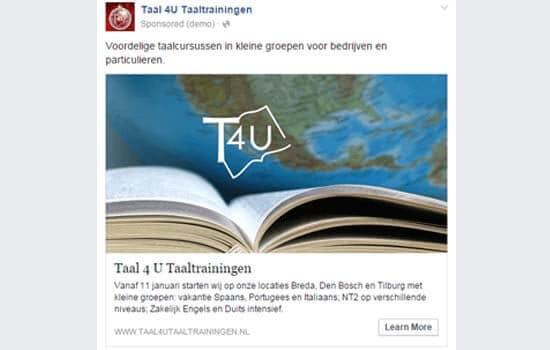 Taal4U-Taaltrainingen-Facebook-Ads-Campagne